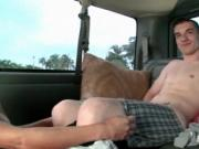 Gay oral sex with blindfold in boys bus