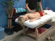 Tiny blonde teen cutie gets a sensual oil massage by Fu