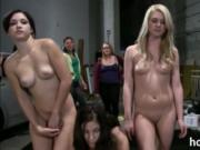 Naughty girls punished by their sisters did some lesbia