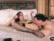 Booby milf Julia Ann in lingerie got fucked and faciale