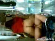 Arab Couple Having Fun On A Chair