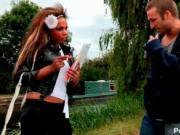Dirty British slut Kit Kox gets seduced and talked into