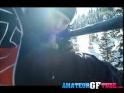 Mya Lane Giving A Blowjob On The Ski Slopes