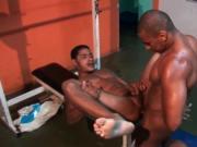 Alber Charles & Renzo Araujo hot black gay hunks 3 by F