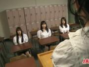 Japanese Schoolgirls And A Teacher