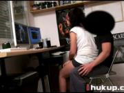 Vanesa se coge al tecnico del compu