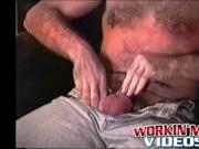 Mature dude Rick wanks his hard dick while moaning in j
