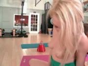 Three sexy girls doing a hot lesbian yoga workout 7 by