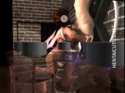Hot 3D hentai slave gets nailed at the wall