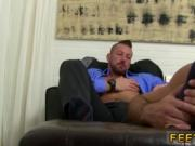 Young football player bare feet gay Hugh Hunter Worship