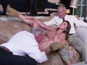 Asian old man young girl first time Ivy impresses with