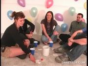 Truth or dare sexgame with horny college teens