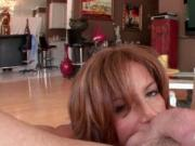 Dick starved mommy giving BJ in POV style