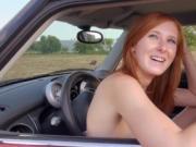 Titillating cowgirl pleasuring