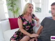 Busty blonde step mother blowjob big rod sucking