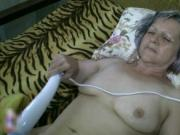 Horny grey old granny gets fucked hard in her hairy pus