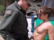 Amateur stripper Sara Luvv fucked by border patrol agen