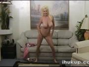 Sexy Teen striptease and dildo mast