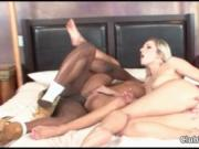 Hot blonde and brunette babes get fucked hard by a blac