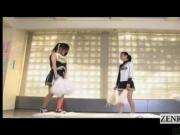 Subtitled Japanese futanari cheerleading tryout fail