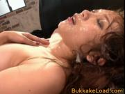 Asami Ogawa gets hot Asian bukkake 1 by BukkakeLoad