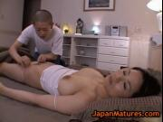 Mature bigtit miki sato masturbating on a bed 2 by Japa
