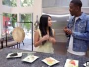 Black boyfriend makes cute Asian moan