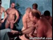 Dirty MILF bitch gets wet cunt destroyed in gangbang by