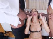 Horny housewife fucked with 2 strangers