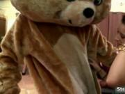 Teddy bear is the best stripper of them. See how these