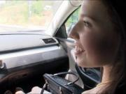 Pretty teen hitchhikes and screwed up by pervert strang