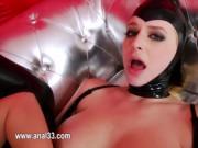ultra hot babe love dildoing her ass