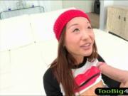 Asian teen beauty Alina Li fits massive cock in her pus