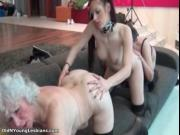 Old and young lesbians go crazy licking their horny cun