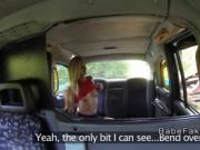 Lesbians foot fucking in fake taxi