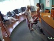 Doctor fucks patient on the desk