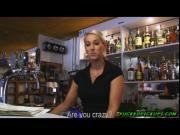 A sexy bartender and a Prague man