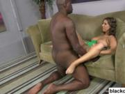 Big ass black cock nails young white girl