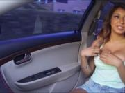 Teen Sarai gets a free ride and cock