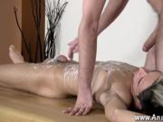 Hardcore gay Brit youngster Oli Jay is bound down to th