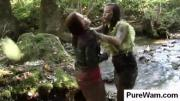 Crazy babes fight in mud