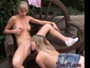 Two towheaded youthfull lesbians sweethearts