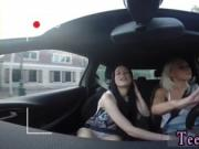 Shy teen used Going for a ride