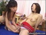 Futanari Teens Play with Cum!