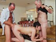 Teen Sydney Sky Gets Plowed By Dirty Old Men