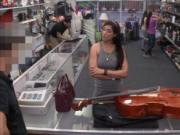 Babe pawns her Cello and fucked at the pawnshop for cas