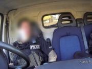 Fake cop bangs blonde in his van in public