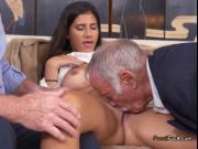 Broke Teen Victoria Valencia Has Oral Sex With Old Men