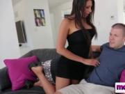 Hot busty mama titty fucked