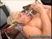 Nasty mom feeling sexy playing with clear dildo 3 by Ex